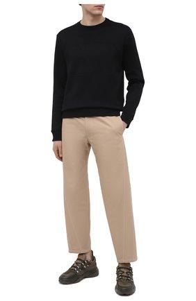 Мужской хлопковый свитшот VALENTINO черного цвета, арт. VV3MF14M73M | Фото 2 (Рукава: Длинные; Длина (для топов): Стандартные; Материал внешний: Хлопок; Мужское Кросс-КТ: свитшот-одежда; Принт: Без принта; Стили: Кэжуэл)