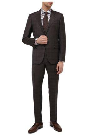 Мужские кожаные дерби W.GIBBS коричневого цвета, арт. 2339006/1640   Фото 2