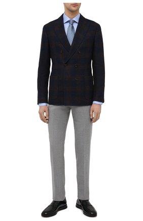 Мужские кожаные пенни-лоферы SANTONI черного цвета, арт. MGMB17603NEAEPWEN01 | Фото 2 (Материал внутренний: Натуральная кожа; Стили: Классический)
