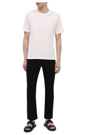 Мужские кожаные сандалии DOUCAL'S черного цвета, арт. DU2861MYK0UF002NN00   Фото 2