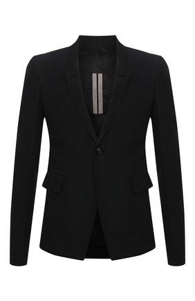 Мужской пиджак RICK OWENS черного цвета, арт. RU21S6733/TS | Фото 1