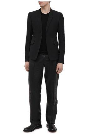 Мужской пиджак RICK OWENS черного цвета, арт. RU21S6733/TS | Фото 2