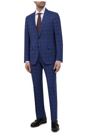 Мужской шерстяной костюм ERMENEGILDO ZEGNA синего цвета, арт. 922074/25M22Y | Фото 1