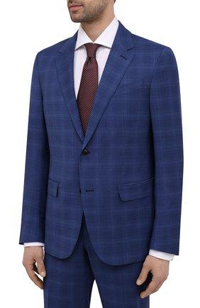 Мужской шерстяной костюм ERMENEGILDO ZEGNA синего цвета, арт. 922074/25M22Y | Фото 2