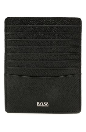 Мужской кожаный футляр для кредитных карт BOSS черного цвета, арт. 50445858   Фото 1