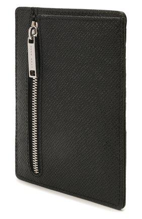 Мужской кожаный футляр для кредитных карт BOSS черного цвета, арт. 50445858 | Фото 2