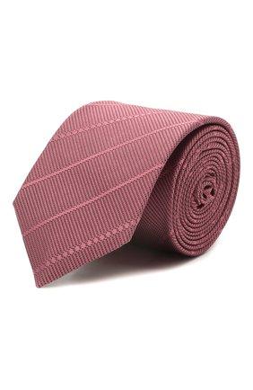 Мужской шелковый галстук BOSS розового цвета, арт. 50451878 | Фото 1