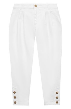 Детские джинсы BALMAIN белого цвета, арт. 6O6190 | Фото 1