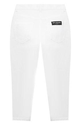 Детские джинсы BALMAIN белого цвета, арт. 6O6190 | Фото 2