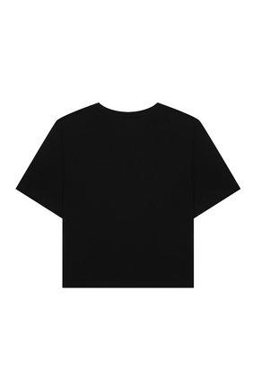 Детская хлопковая футболка EMILIO PUCCI черного цвета, арт. 9O8161 | Фото 2