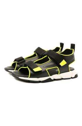 Детские кожаные сандалии MISSOURI черного цвета, арт. 21175/35-41   Фото 1
