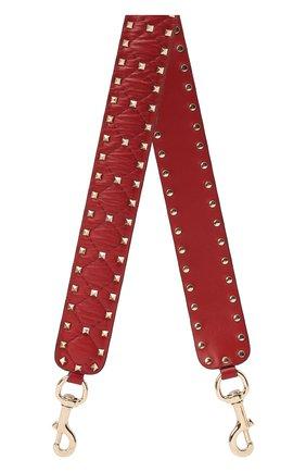 Женские кожаный ремень для сумки valentino garavani rockstud spike VALENTINO красного цвета, арт. RW2P0P37/NAP | Фото 1