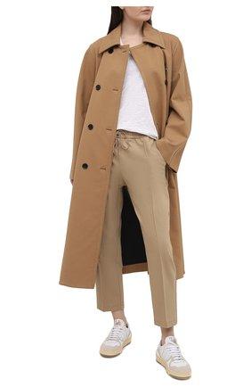 Женские брюки BOSS бежевого цвета, арт. 50444247 | Фото 2