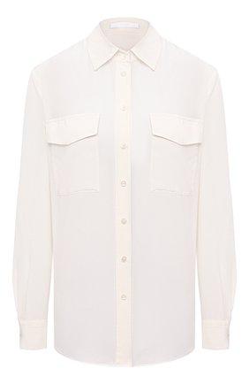 Женская шелковая рубашка BOSS бежевого цвета, арт. 50447798 | Фото 1