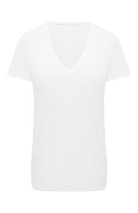 Женская хлопковая футболка BOSS белого цвета, арт. 50449152 | Фото 1