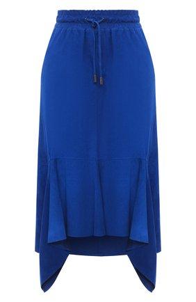 Женская замшевая юбка TOM FORD синего цвета, арт. GCL816-LEX257 | Фото 1