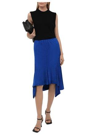 Женская замшевая юбка TOM FORD синего цвета, арт. GCL816-LEX257 | Фото 2