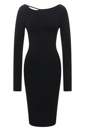 Женское платье HELMUT LANG черного цвета, арт. K10HW601 | Фото 1