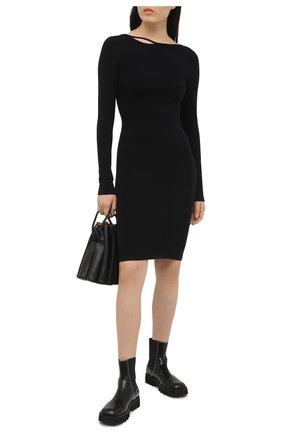 Женское платье HELMUT LANG черного цвета, арт. K10HW601 | Фото 2