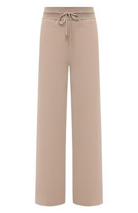 Женские шелковые брюки LORO PIANA бежевого цвета, арт. FAI9859 | Фото 1