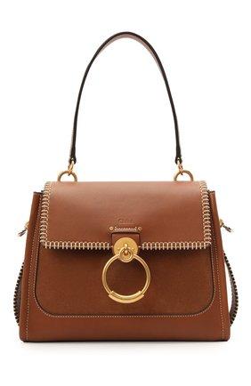 Женская сумка tess day small CHLOÉ коричневого цвета, арт. CHC21SS142D98 | Фото 1