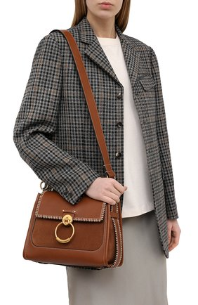 Женская сумка tess day small CHLOÉ коричневого цвета, арт. CHC21SS142D98 | Фото 2