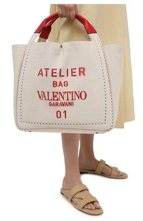 Женский сумка-тоут valentino garavani atelier VALENTINO бежевого цвета, арт. VW2B0H85/NIZ | Фото 2