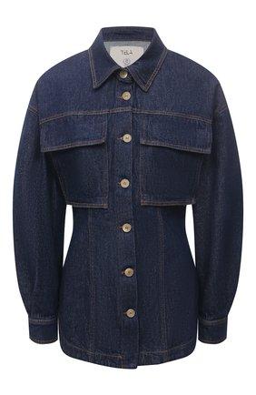 Женская джинсовая рубашка TELA синего цвета, арт. A6 0259 01 T108 | Фото 1
