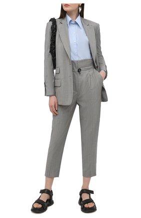 Женские шерстяные брюки TELA серого цвета, арт. 14 8023 01 0159 | Фото 2