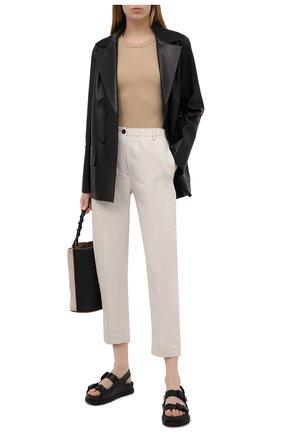 Женские брюки из хлопка и льна TELA бежевого цвета, арт. 14 0236 01 0170 | Фото 2