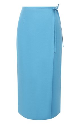 Женская льняная юбка TELA голубого цвета, арт. 11 5266 01 0167 | Фото 1