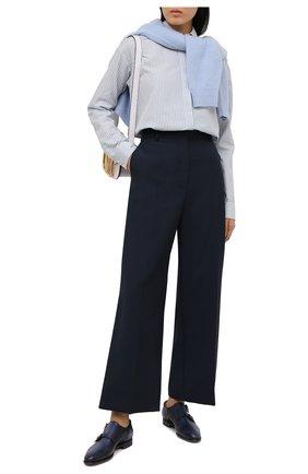 Женская кожаные монки SANTONI темно-синего цвета, арт. WUGY56649BA1NIVLU38 | Фото 2