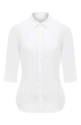 Женская льняная рубашка 120% LINO белого цвета, арт. T0W1780/0115/000 | Фото 1