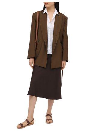 Женская льняная рубашка 120% LINO белого цвета, арт. T0W1780/0115/000 | Фото 2