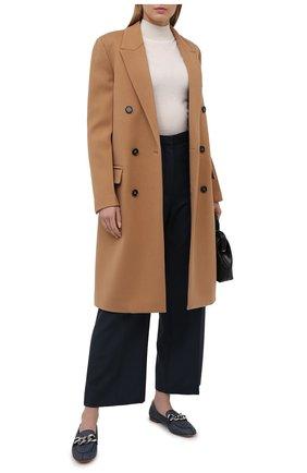 Женские кожаные лоферы CASADEI темно-серого цвета, арт. 1A207S0101C12925600 | Фото 2