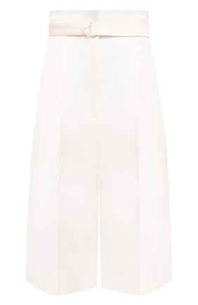 Женские хлопковые шорты PHILOSOPHY DI LORENZO SERAFINI белого цвета, арт. A0318/722 | Фото 1
