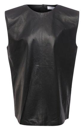 Женский кожаный топ IRO черного цвета, арт. WP16MAREN | Фото 1