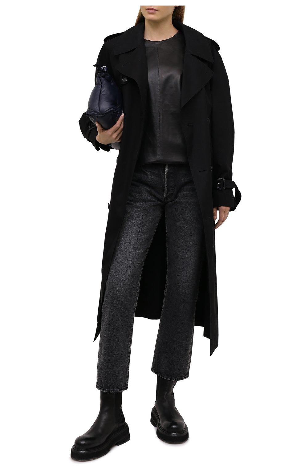 Женский кожаный топ IRO черного цвета, арт. WP16MAREN | Фото 2