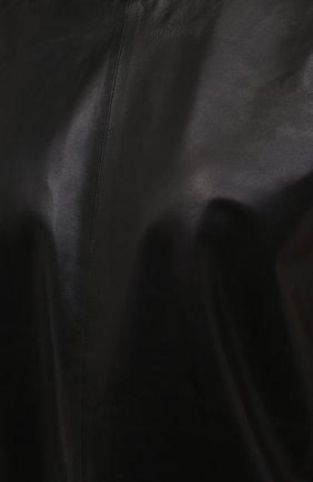Женский кожаный топ IRO черного цвета, арт. WP16MAREN | Фото 5