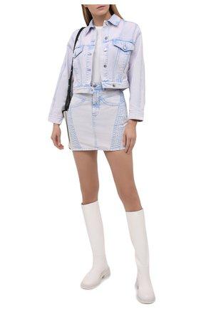 Женская джинсовая куртка IRO сиреневого цвета, арт. WP08SMALA | Фото 2