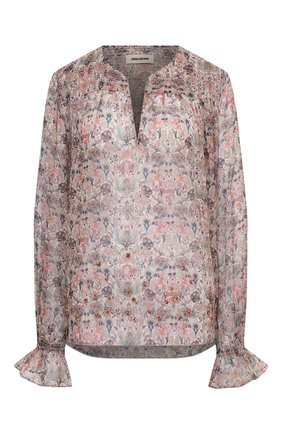 Женская блузка ZADIG&VOLTAIRE светло-бежевого цвета, арт. SKCE3201F | Фото 1