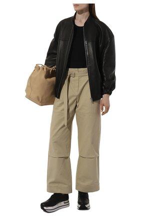 Женские кожаные кроссовки PREMIATA черного цвета, арт. BETH/VAR3873 | Фото 2