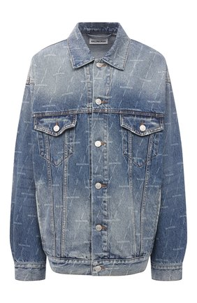 Женская джинсовая куртка BALENCIAGA синего цвета, арт. 625993/TJW53 | Фото 1