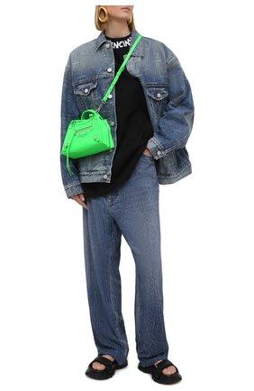 Женская джинсовая куртка BALENCIAGA синего цвета, арт. 625993/TJW53 | Фото 2