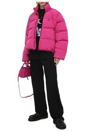 Женский стеганая куртка BALENCIAGA розового цвета, арт. 601763/TYD36 | Фото 2