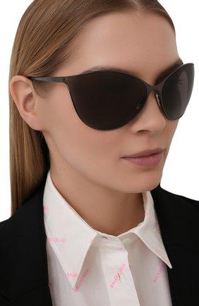 Женские солнцезащитные очки BALENCIAGA коричневого цвета, арт. 648052/T0005 | Фото 2