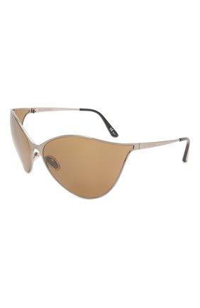 Женские солнцезащитные очки BALENCIAGA хаки цвета, арт. 648052/T0005 | Фото 1 (Материал: Металл; Тип очков: С/з; Очки форма: Over-size)