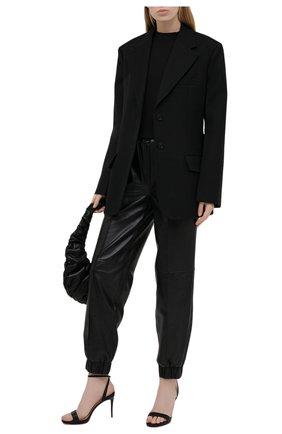 Женские кожаные босоножки loubi queen 100 CHRISTIAN LOUBOUTIN черного цвета, арт. 1191580/L0UBI QUEEN 100 | Фото 2