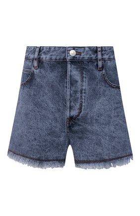 Женские джинсовые шорты ISABEL MARANT ETOILE синего цвета, арт. SH0372-21P019E/LESIASR | Фото 1 (Материал внешний: Хлопок; Длина Ж (юбки, платья, шорты): Мини; Кросс-КТ: Деним; Стили: Кэжуэл; Женское Кросс-КТ: Шорты-одежда)