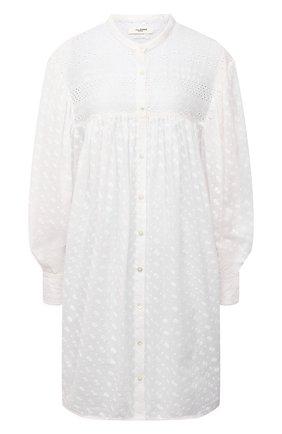 Женское хлопковое платье ISABEL MARANT ETOILE белого цвета, арт. R01928-21P032E/TILALIA | Фото 1